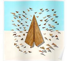 Paper Airplanes of Wood 10 Poster