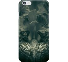 A (voracious) moment in the monochrome garden iPhone Case/Skin