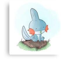 Mudkip is resting Canvas Print