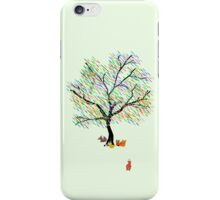 Foxes and Rainbow Tree iPhone Case/Skin