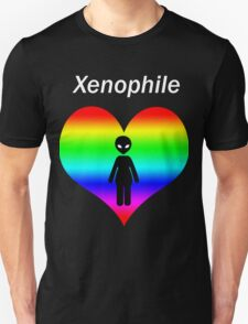 Xenophile - For Alien Lovers (Rainbow) T-Shirt