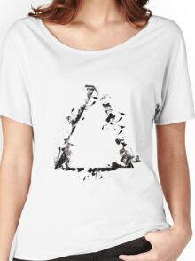 Ink Splatter Triangle - Black Women's Relaxed Fit T-Shirt