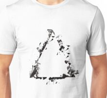 Ink Splatter Triangle - Black Unisex T-Shirt