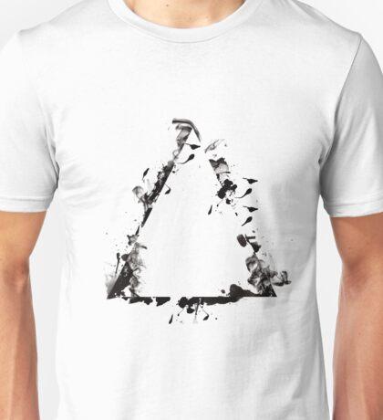 Ink Splatter Triangle - Black Unisex T-Shirt