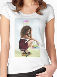 Classic Girl T-Shirt Women's Fitted Scoop T-Shirt