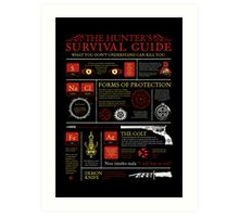 The Hunters Survival Guide Art Print