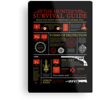 The Hunters Survival Guide Metal Print