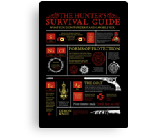 The Hunters Survival Guide Canvas Print