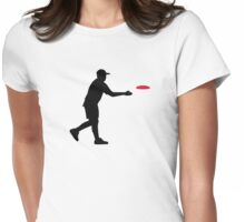 Disc golf player Womens Fitted T-Shirt
