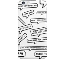 Speechbubbles iPhone Case/Skin