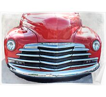 Early 50's Chevrolet Pickup Grill Poster