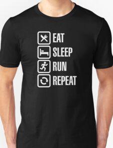 Eat sleep run repeat Unisex T-Shirt