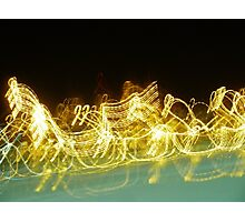 Galloping Neon Photographic Print