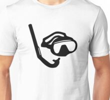 Diving glasses snorkel Unisex T-Shirt
