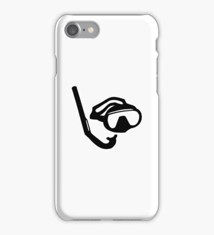 Diving glasses snorkel iPhone Case/Skin