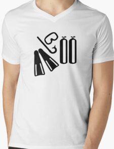 Diving equipment Mens V-Neck T-Shirt