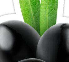 Three black olives Sticker