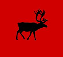 Raindeer - Red by Linguistix