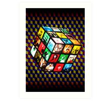 Rubik TV Art Print