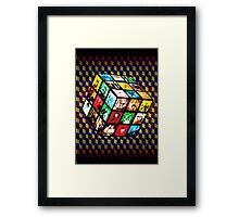 Rubik TV Framed Print