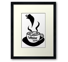 Caffeine Coffee Framed Print
