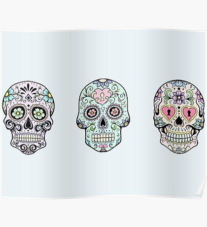 Sugar skulls Poster