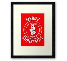 Rudolph's Merry Christmas Logo Framed Print