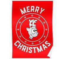 Rudolph's Merry Christmas Logo Poster