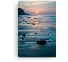 Amroth Beach - Spring Sunrise Canvas Print