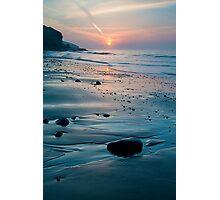 Amroth Beach - Spring Sunrise Photographic Print
