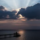 Sun Ray's Over Clevedon Pier by Simon West