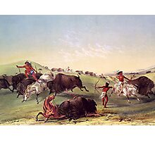 Catlin - Buffalo Hunt Photographic Print