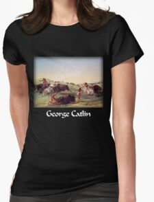 Catlin - Buffalo Hunt Womens Fitted T-Shirt