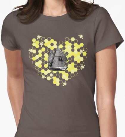 French Beehive Ladies Vintage Style T-Shirt by HNTM Womens Fitted T-Shirt