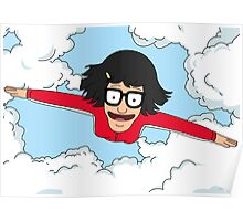 Tina Flying - Quickie Kiss It Island - Bob's Burgers Poster