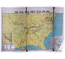Civil War Maps 1113 McConnell's Historical maps of the United States Poster