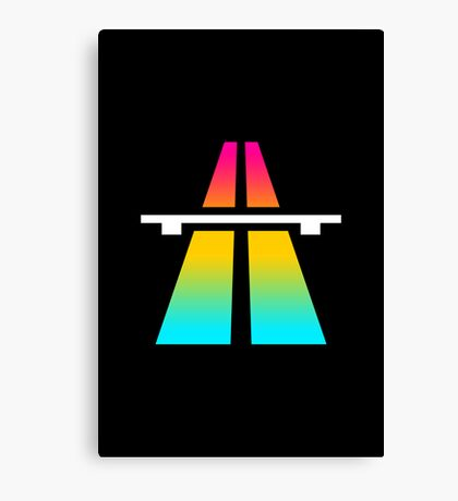 Rainbow Roadsign Canvas Print