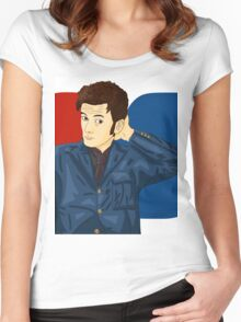 David Tennant  Women's Fitted Scoop T-Shirt
