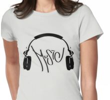Music Headphones Womens Fitted T-Shirt