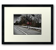 High Wheeling on a Country Road Framed Print
