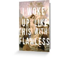 THE FLAWLESS BIRTH OF VENUS (POSTER) Greeting Card