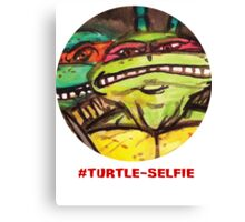 "#Turtleselfie ""Smile Raph"" Canvas Print"