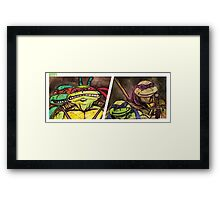 Teenage Mutant Ninja Turtles Watercolor  Framed Print