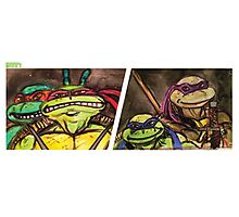 Teenage Mutant Ninja Turtles Watercolor  Photographic Print