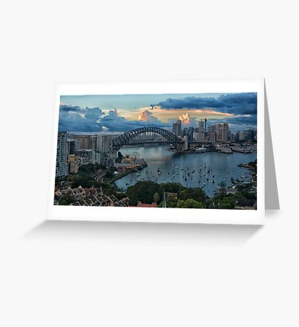 Morning Light - Sydney Harbour - The HDR Experience Greeting Card