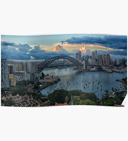 Morning Light - Sydney Harbour - The HDR Experience Poster