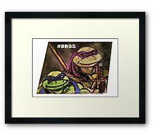 """Teenage Mutant Ninja Turtles """"#Bros"""" Framed Print"""