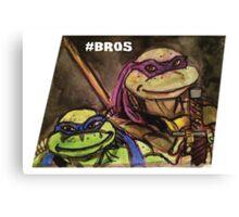 """Teenage Mutant Ninja Turtles """"#Bros"""" Canvas Print"""
