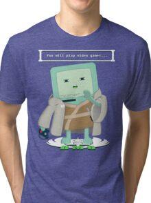 Jedi Mo: You will play video games... Tri-blend T-Shirt