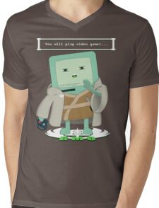 Jedi Mo: You will play video games... Mens V-Neck T-Shirt
